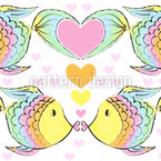 Kissing Fish Repeat Pattern