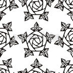 Gothic Rose Seamless Vector Pattern Design
