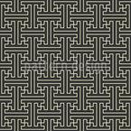 Asiatische Gitter Webung Vektor Muster