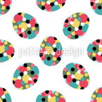 Easter Eggs With Polka Dots Seamless Vector Pattern Design