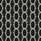 Chained Ovals Seamless Vector Pattern