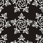 Medieval Rose Seamless Vector Pattern Design