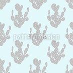 Heavenly Cactus Seamless Vector Pattern Design