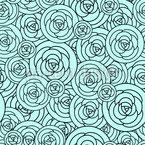 Rosen auf dem Teller Nahtloses Vektormuster