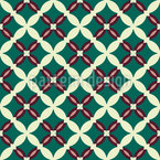 Moorish Grid Seamless Vector Pattern Design