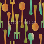 Cutlery Set Vector Ornament