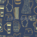 Retro Pitchers Seamless Vector Pattern Design