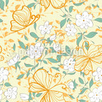 Garden Splendor Seamless Vector Pattern Design