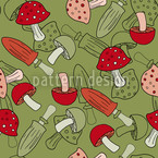 Mushroom Dream Vector Pattern
