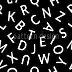 Buchstaben Musterdesign