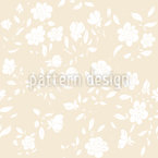 Romantic Vintage Blossom Seamless Vector Pattern Design