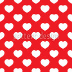 Hearts Everywhere Seamless Vector Pattern Design
