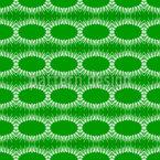 Ovals com franjas Design de padrão vetorial sem costura