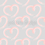 Hand Drawn Heart Seamless Vector Pattern Design