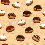 Süße Krapfen Muster Design