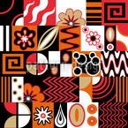 Retro Potpourri Seamless Vector Pattern Design