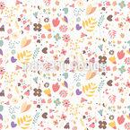 Handgezeichnete Blumen Nahtloses Vektormuster