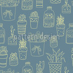 Potted Plants Lover Seamless Vector Pattern Design