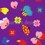 Frühlings Flattern Musterdesign