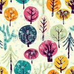 Es Ist Kalt Im Wald Nahtloses Vektormuster
