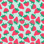 Strawberries With Sugar Seamless Vector Pattern Design