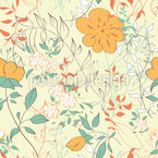I Dream Of Flowers Seamless Vector Pattern Design