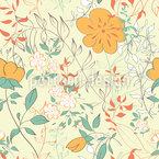Ich Träume Von Blumen Nahtloses Vektormuster