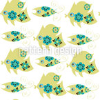 Cute Fish Vector Pattern