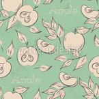 Südliche Äpfel Nahtloses Vektormuster