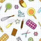 Baking A Cake Seamless Vector Pattern Design