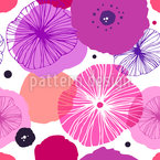 Stylish Poppy Seamless Vector Pattern Design