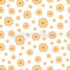 Sonnenstrahlen Nahtloses Vektormuster