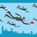 Fliegende Geschäftsmänner Nahtloses Vektormuster