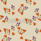 Mille Fleurs On Beige Estampado Vectorial Sin Costura