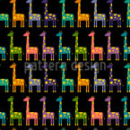 Giraffen Parade Nahtloses Vektormuster