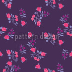 Scattered Flowers On Lilaq Seamless Pattern