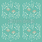 Delicate Plants Seamless Vector Pattern Design