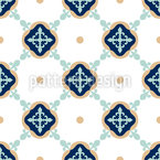 Fleur De Lis Connection Seamless Vector Pattern Design
