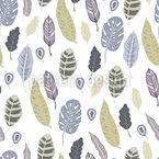 Dschungel Blatt Sammlung Nahtloses Vektormuster