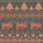 Norwegian Winter Seamless Vector Pattern Design