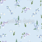 Forget Me Not Seamless Vector Pattern Design
