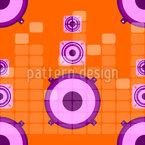 Altifalante Design de padrão vetorial sem costura