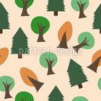 Tree Jumble Design de padrão vetorial sem costura