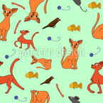Katze Oder Chihuahua Nahtloses Vektormuster