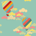 Hot Air Balloons Seamless Vector Pattern Design