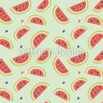 I Love Watermelons Repeat Pattern