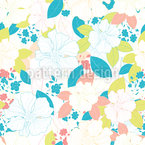The Joy Of Flowers Seamless Vector Pattern Design