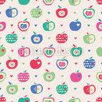 Äpfel Und Herzen Designmuster