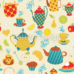 Tea Time In The Park Seamless Vector Pattern Design