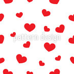 Big And Small Hearts Seamless Vector Pattern Design